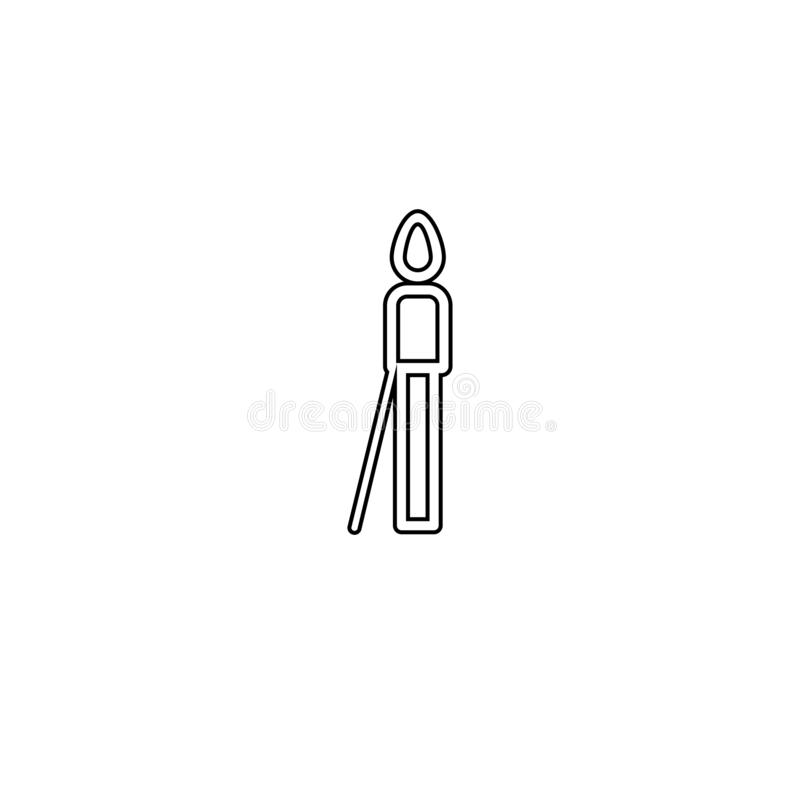 Older disabled icon. Medical person symbol. Person, icon, old, disability, elderly, vector, disabled, wheelchair, older, symbol, adult, white, illustration vector illustration