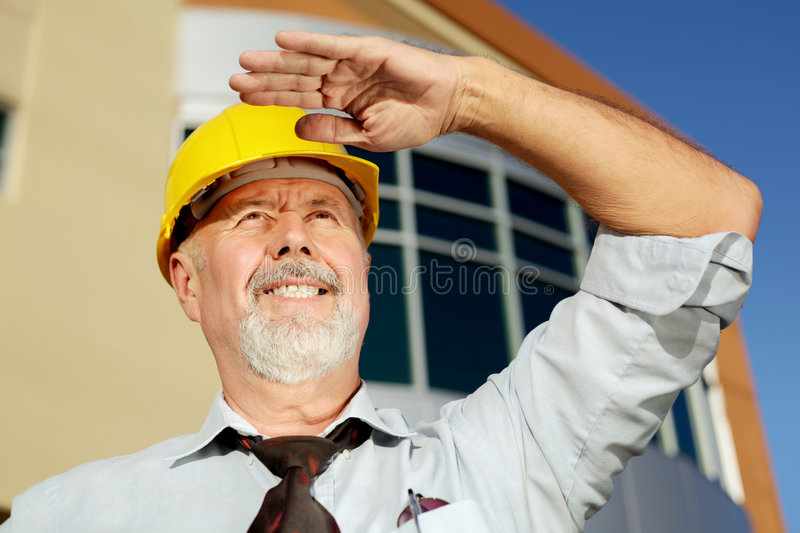Older engineer royalty free stock photography