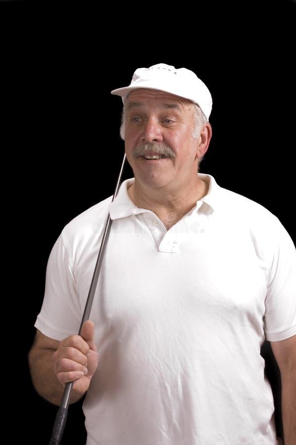 Download Older Golfer Pleased With Shot Stock Image - Image: 5852707