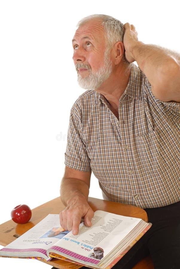 Download Older learner stock photo. Image of pastime, desk, homework - 3982580