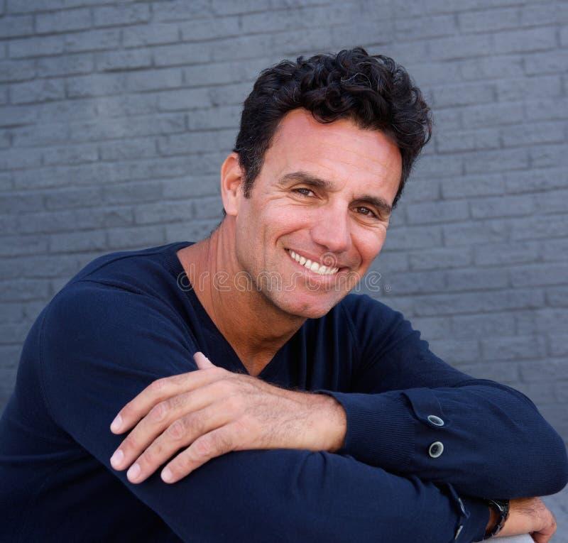Free Older Male Fashion Model Smiling Stock Image - 70484371