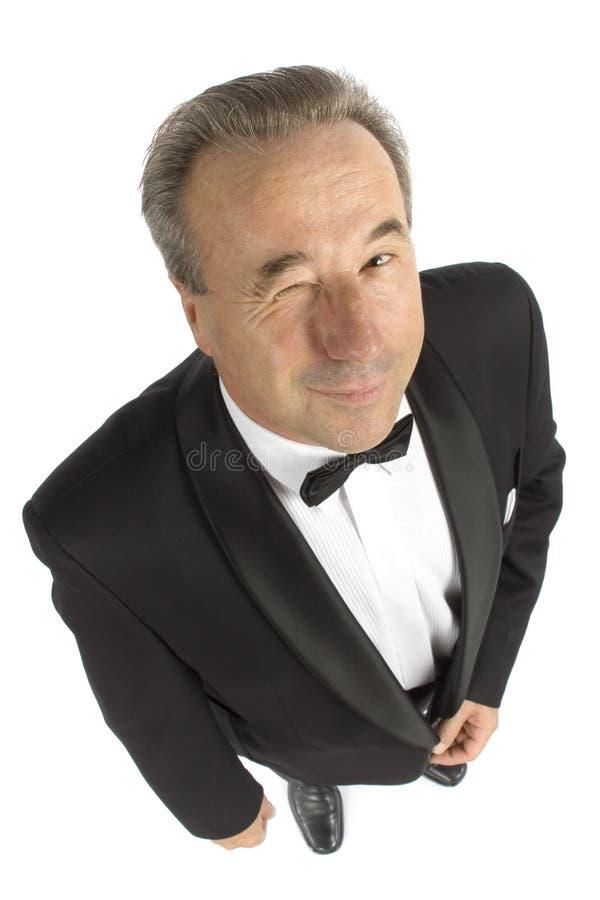 Older Man Blinks Eye Stock Photos