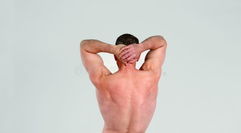 Older Man Showing Muscular Back Royalty Free Stock Photo