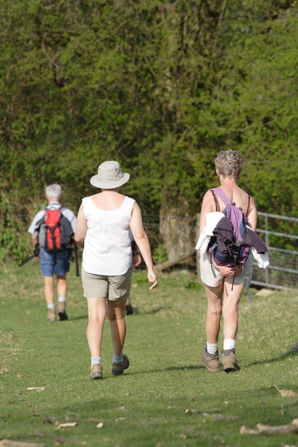 Older people walking stock photo