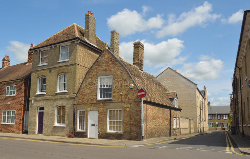 older properties in St Ives Cambridgeshire royalty free stock photography