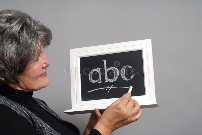 Older teacher stock photography