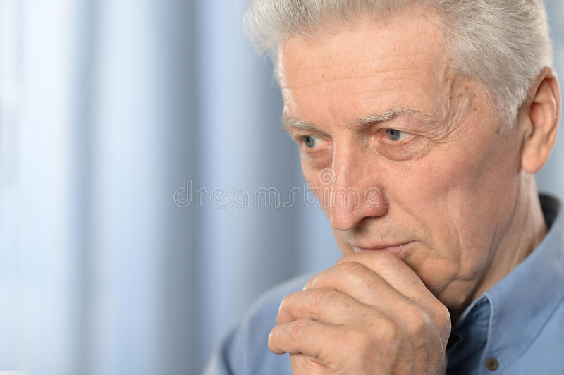 Older thoughtful man royalty free stock images