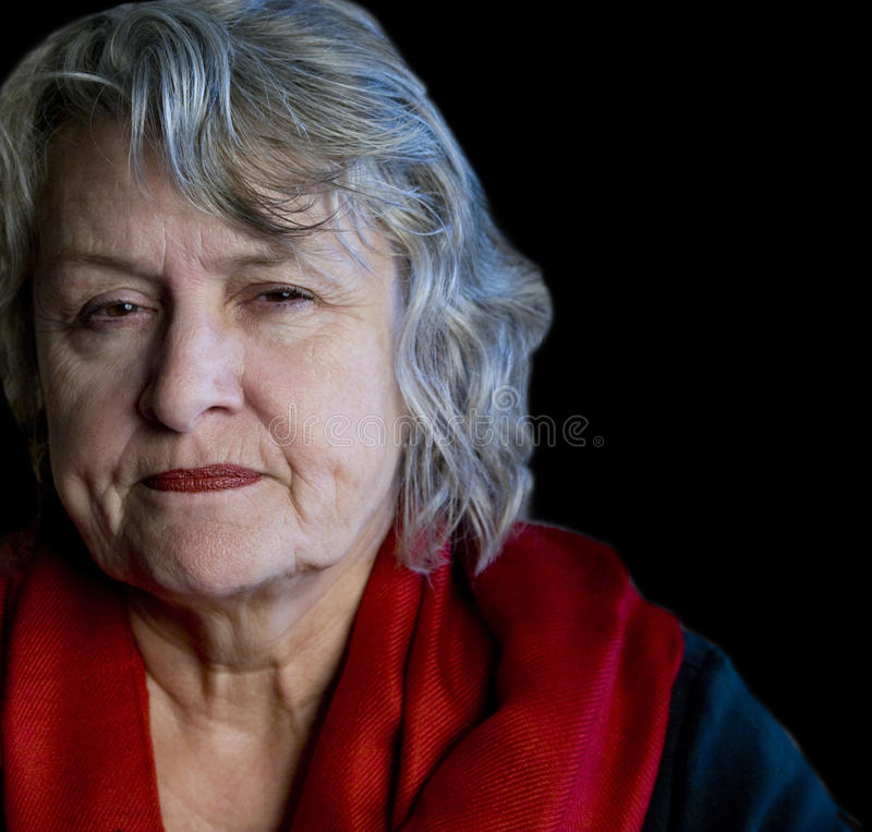 Older Woman Scowling royalty free stock images
