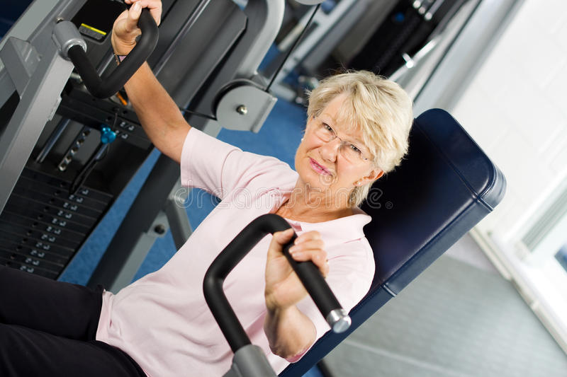 Download Older Woman Working Out Royalty Free Stock Photos - Image: 10494938