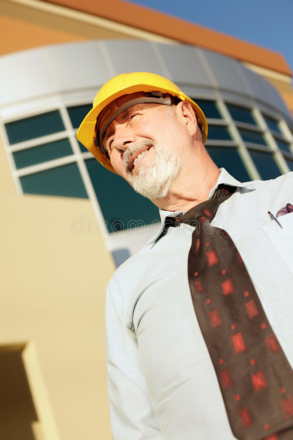 Older worker stock photography