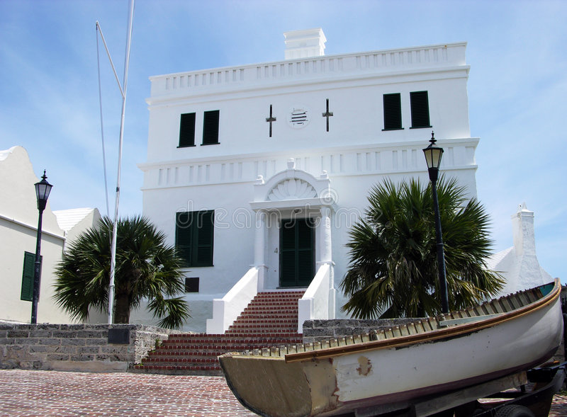 The Oldest Bermuda House stock photo