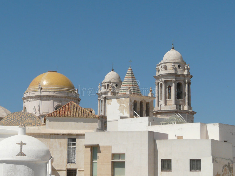 Oldest church in Cadiz. The oldest church in Cadiz, built in moresque's style stock image