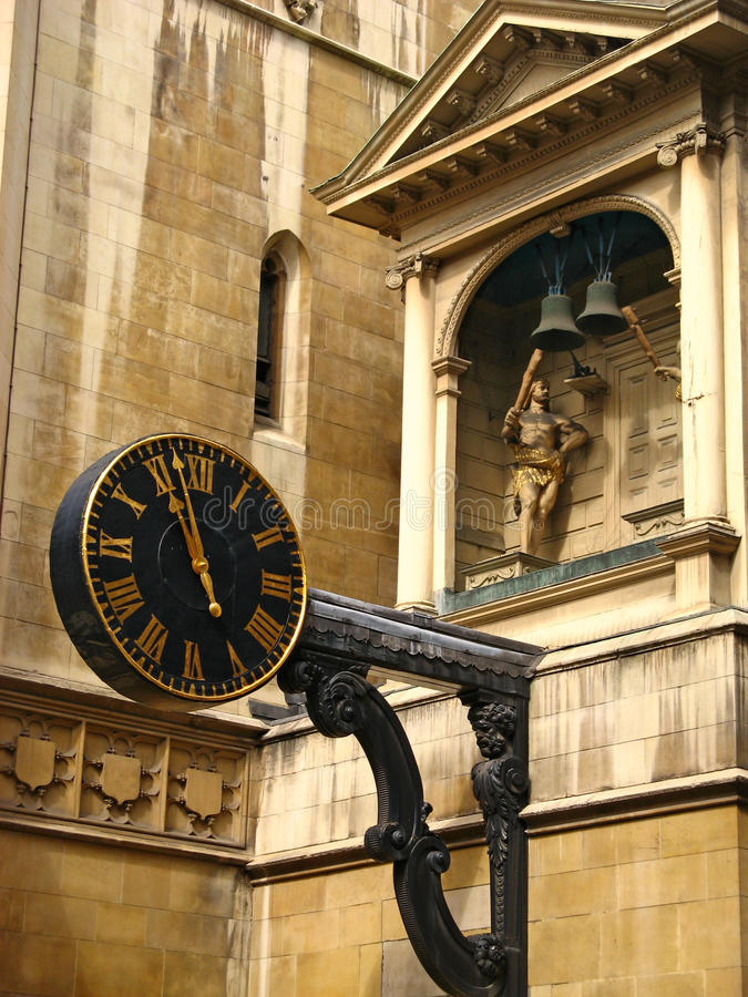 Oldest Clock in London 02 royalty free stock image