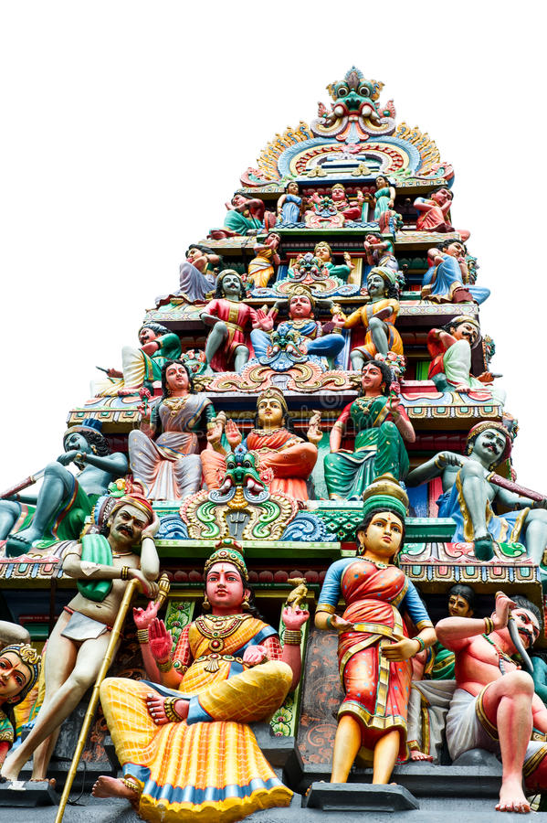 Oldest hindu temple Sri Mariamman in Singapore stock photography