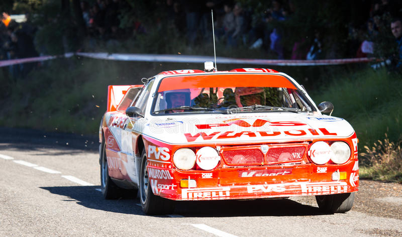 The oldest rally in spain royalty free stock images