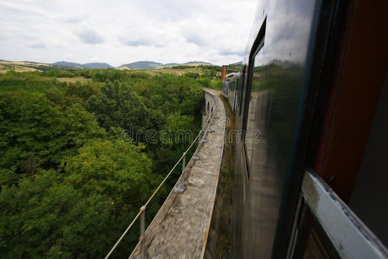 Oldest romanian railway view royalty free stock photos