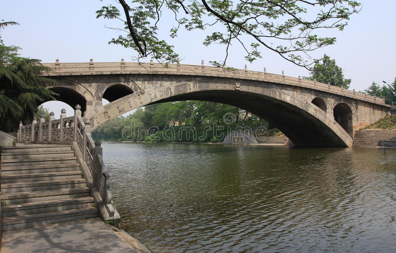 The oldest stone-arched bridge stock photography