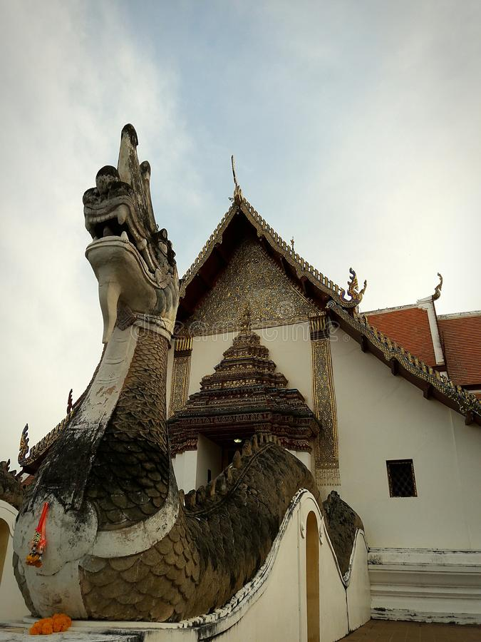 The oldest temple in Thailand stock photography