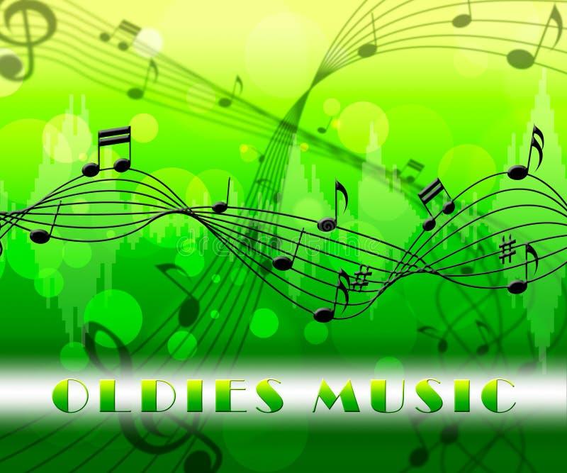 Oldies muzyka Znaczy klasyki Od Za royalty ilustracja