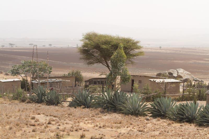 Oldonyo masai wioska zdjęcie royalty free