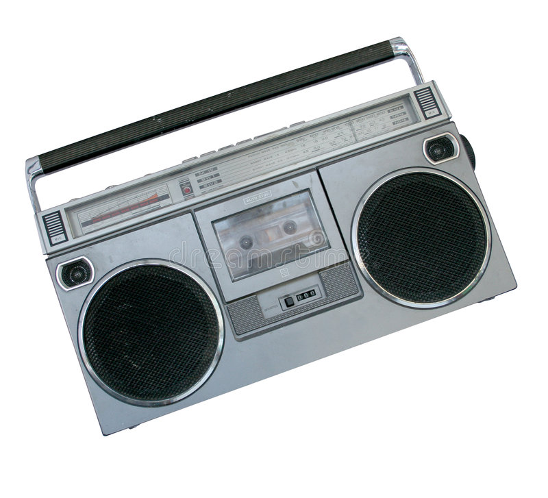 Oldschool boombox royalty free stock photography