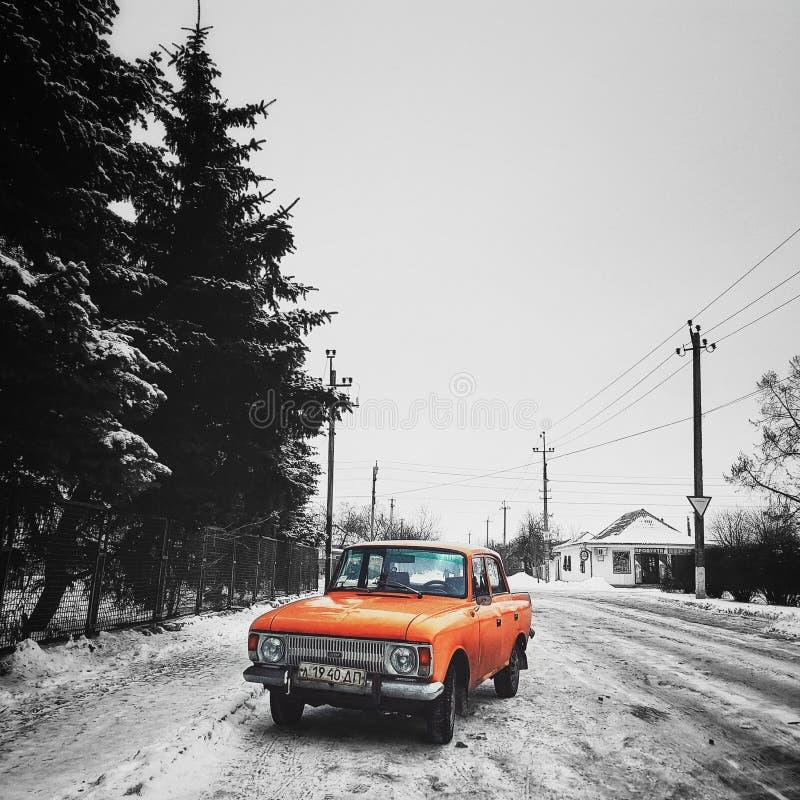 Oldschool sowieci samochód obraz stock