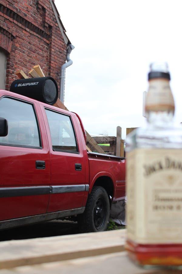 Oldsmobile, vecchio, raccolta, gangster, Jack Daniels immagine stock libera da diritti