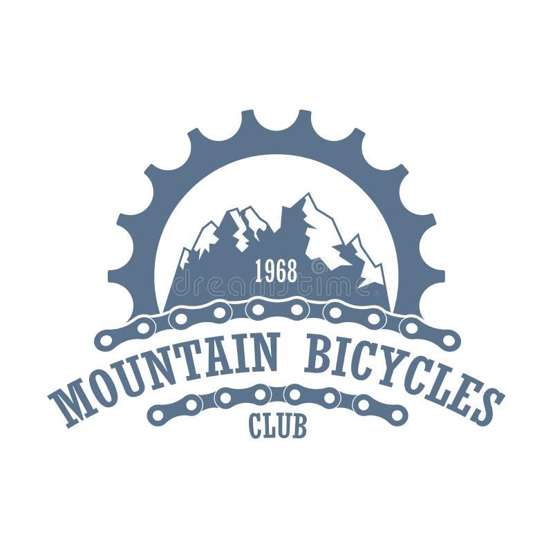 Mountain bicycles travel company logo royalty free stock photography