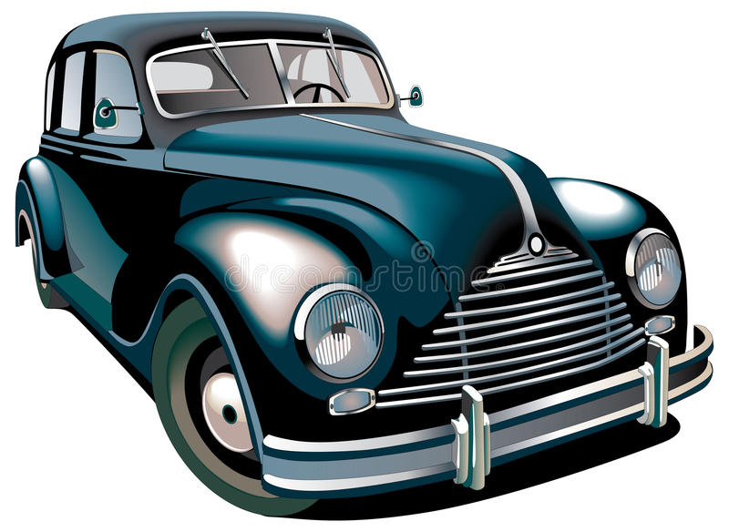 Download Oldtimer stock vector. Image of vehicle, isolated, motor - 14447421