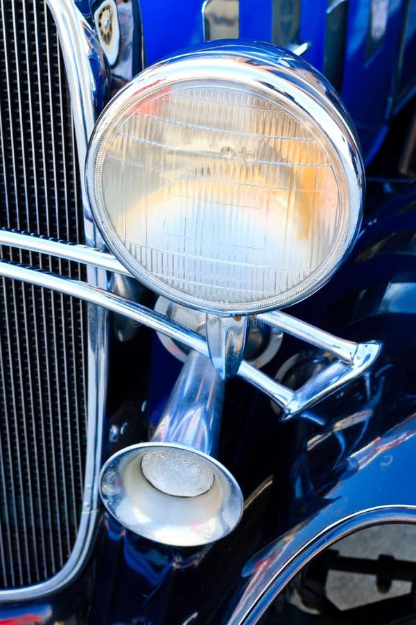 Download Oldtimer stock photo. Image of light, metal, blue, bumper - 23989710