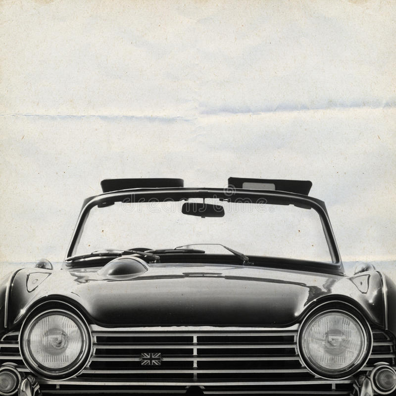 Oldtimer Background Triumph royalty free stock photography
