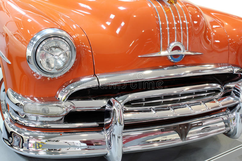 Download Oldtimer car chrome bumper stock image. Image of style - 30172731