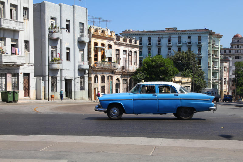 Oldtimer car in Cuba stock images