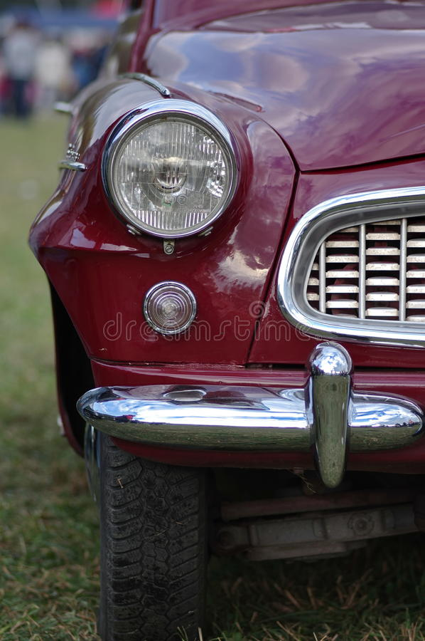Oldtimer car - Skoda. Vintage old Skoda on an oldtimer cars meeting royalty free stock images