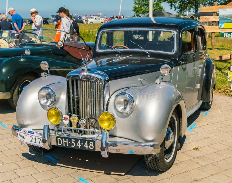 Oldtimer de Alvis TC21 no dia nacional anual do oldtimer em Lelystad imagens de stock royalty free