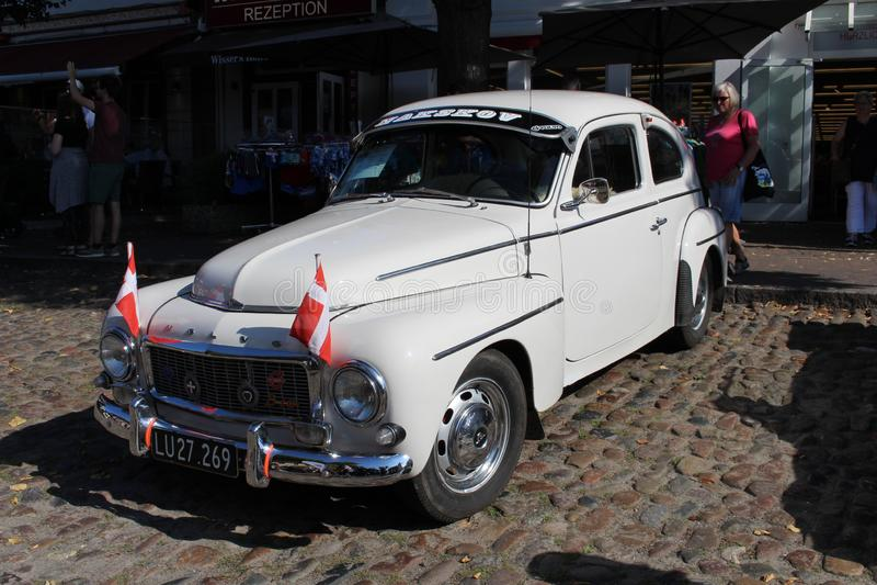 Oldtimer de Volvo à un salon automobile photos libres de droits