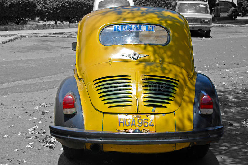Oldtimer renault stock photography