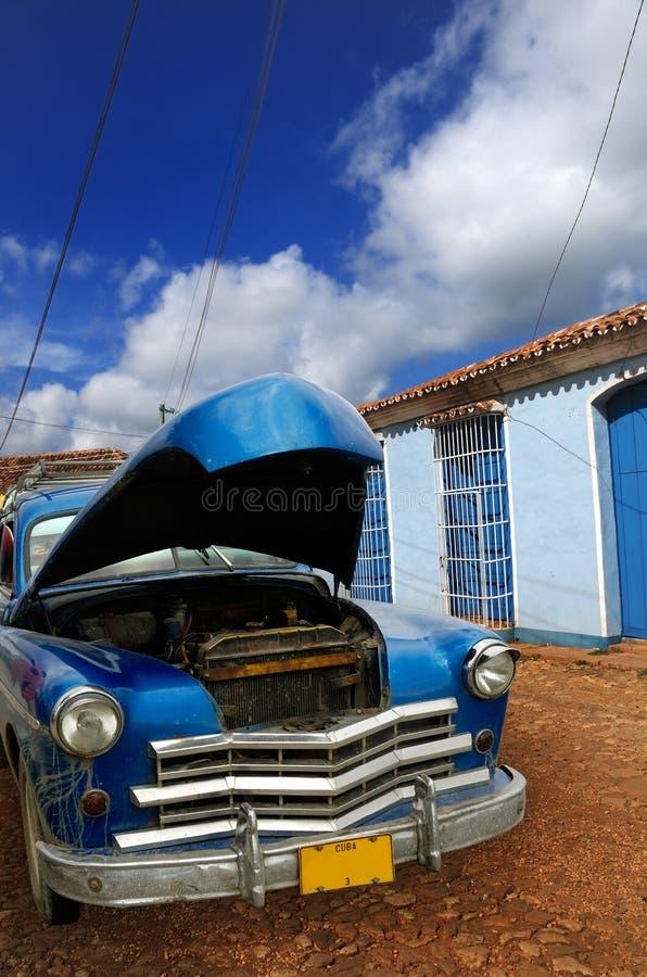 Oldtimer in Trinidad, Kuba lizenzfreies stockfoto