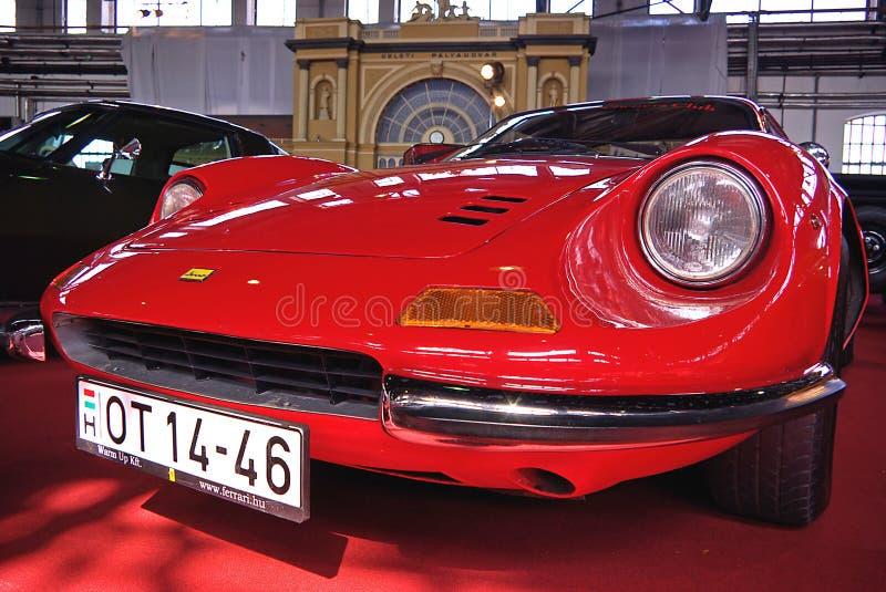 Oldtimer vermelho Ferrari imagens de stock
