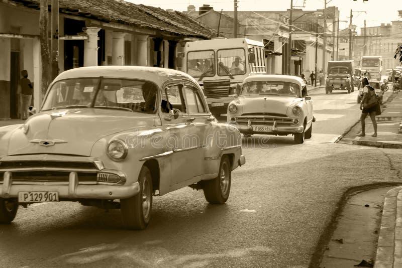 Oldtimers i Kuba royaltyfri foto