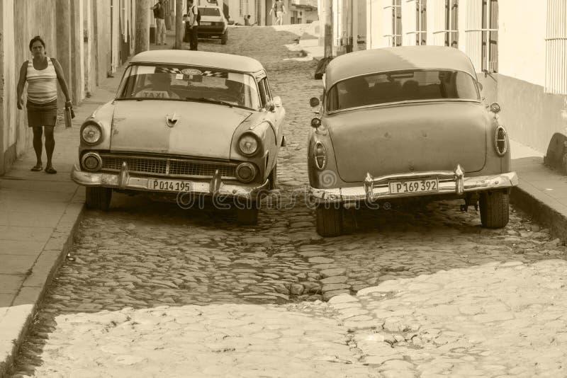 Oldtimers i Kuba royaltyfria foton