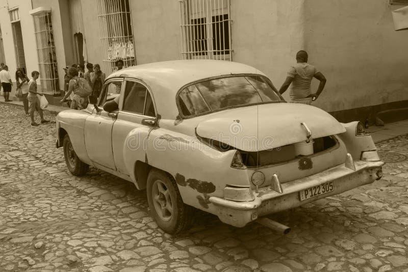 Oldtimers i Kuba royaltyfri bild