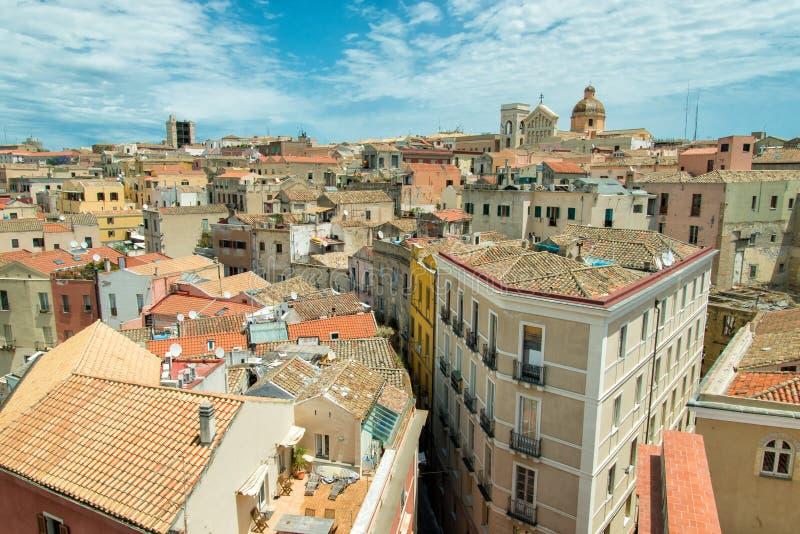 Oldtown a Cagliari immagine stock