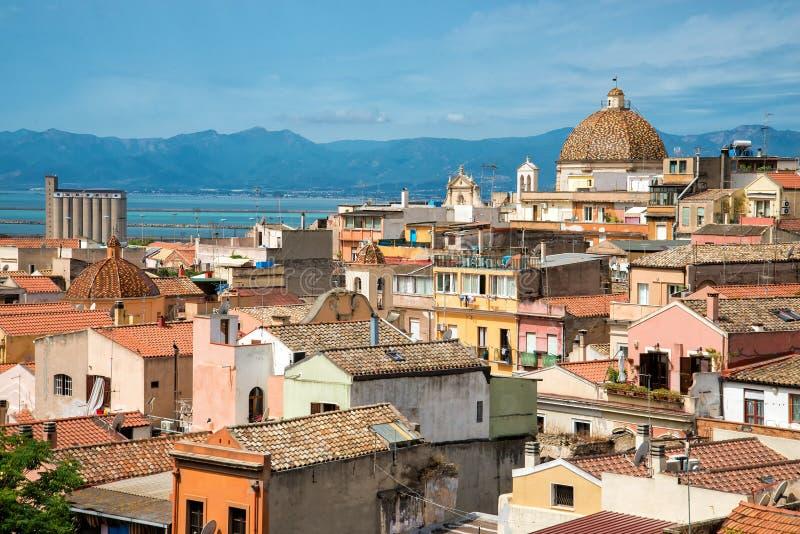 Oldtown a Cagliari fotografia stock