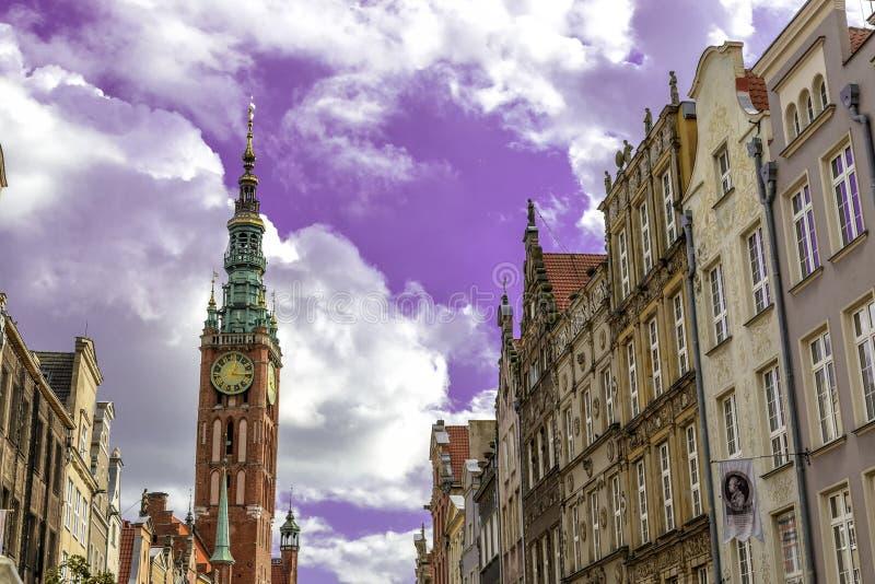 Oldtown de Gdansk no Polônia foto de stock