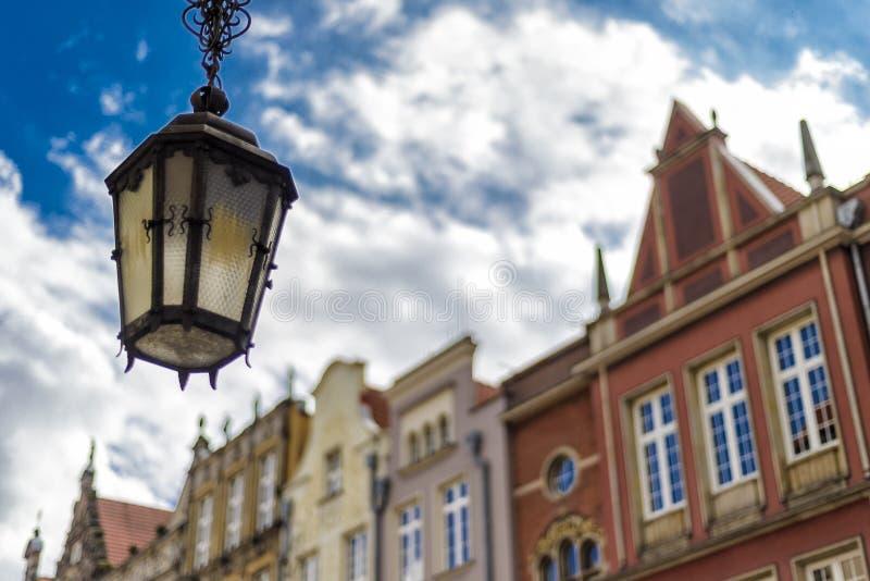 Oldtown de Gdansk no Polônia fotos de stock royalty free
