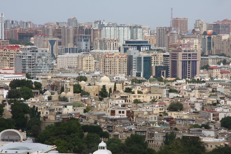 Oldtown di Baku Azerbaijan del centro immagini stock libere da diritti