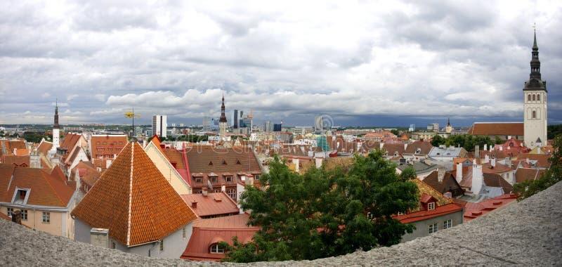 oldtown panorama Tallinn zdjęcie royalty free