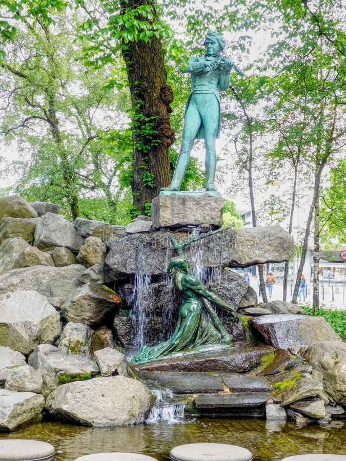 Ole Bull en Bergen imagen de archivo libre de regalías
