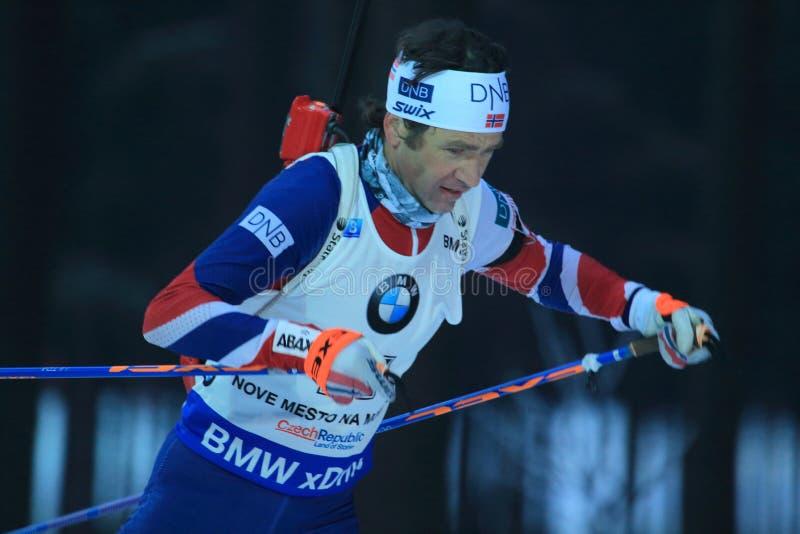 Ole Einar Bjørndalen - biathlon imagen de archivo